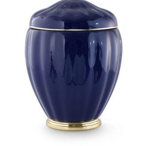 keramische urn kobaltblauw met gouden versieringen (10)