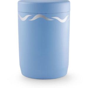 Wateroplosbare urn blauw met golfpatroon (1060fb)
