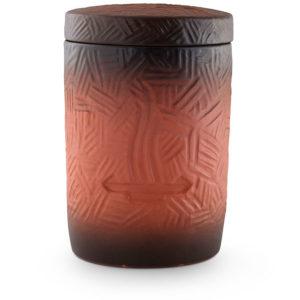 keramische urn kleipoeder bewerkt rood (12)