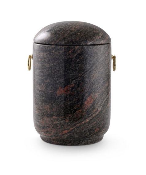 natuurstenen urn indian aurora rood zwart (125a)