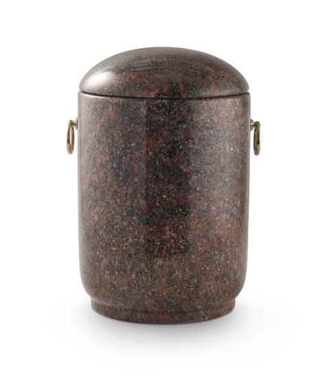 natuurstenen urn in hymalaya graniet rood gevlamd (125r)