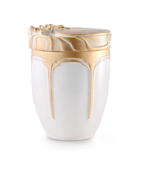 keramisch anhydriet urn wit goud (127)