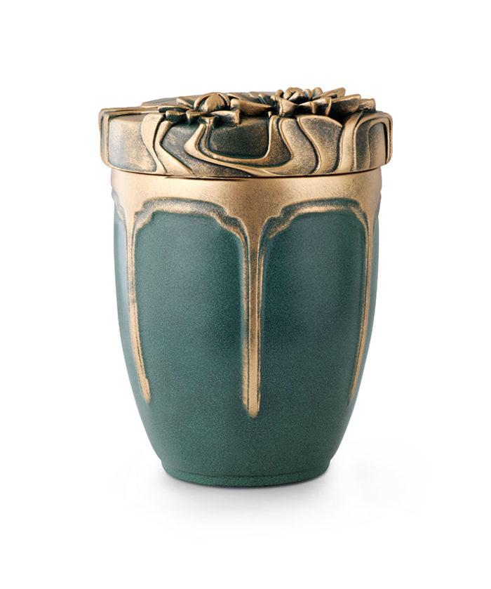 keramische anhydriet urn zeegroen (127pg)