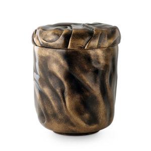 keramische anhydriet urn zwart goud (128)