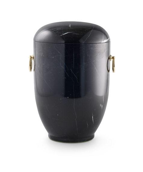 zwart marmeren urn gepolijst (130)