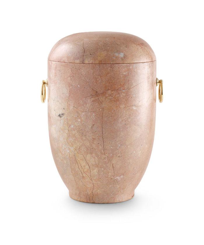 natuurstenen urn rosa marmer (131)