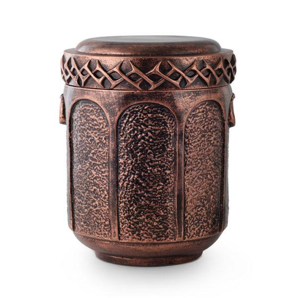 natuurstenen urn oud koper kleurig (143aku)