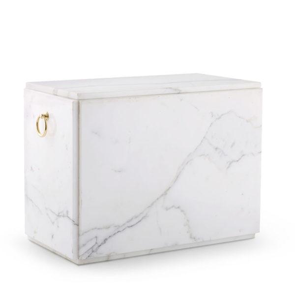 wit marmeren sarcofaag voor twee asbussen (147duo)