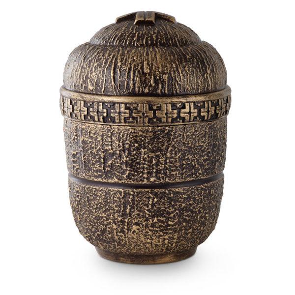 Anhydriet urn bronskleurig kruisversiering (172)