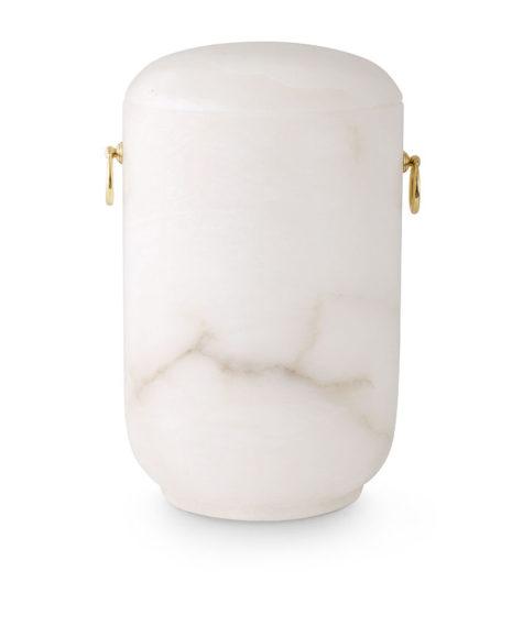 natuurstenen urn albast marmer wit (175)