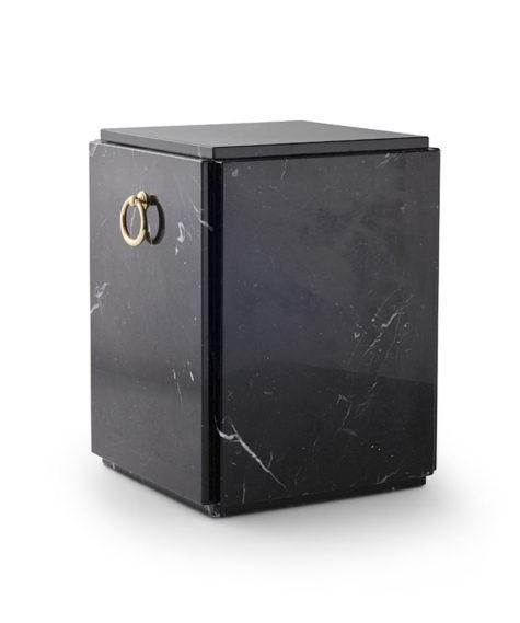 natuurstenen sarcofaag zwart,wit marmer (179)