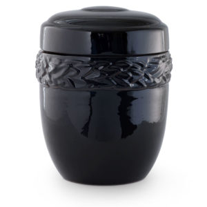 keramische urn met laurierblad versiering rondom (2)