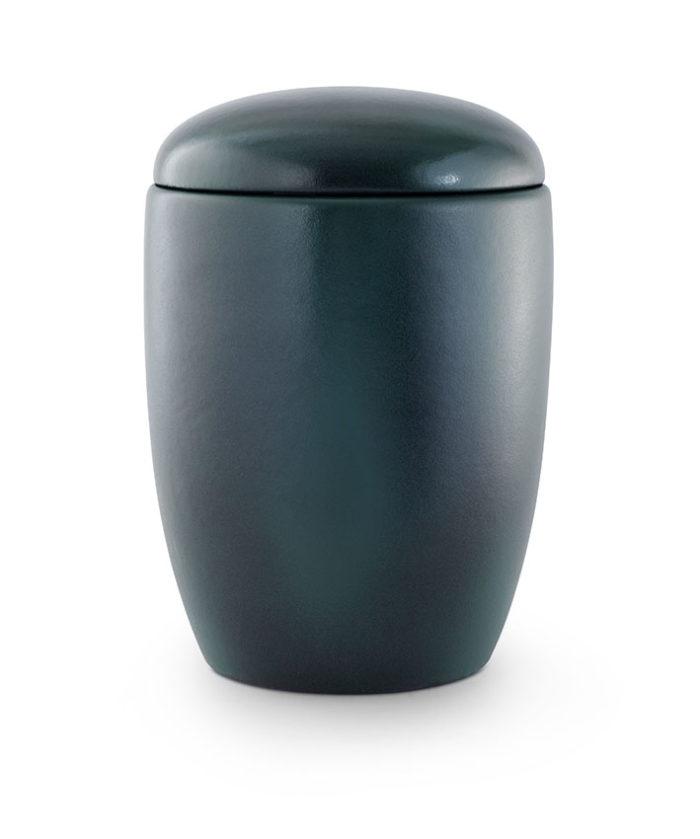 keramische urn geglazuurd blauw groen (20)
