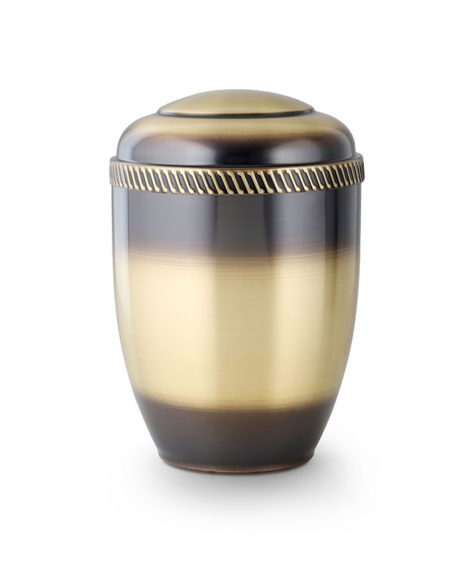 messing urn galvanisch gekleurd (210)