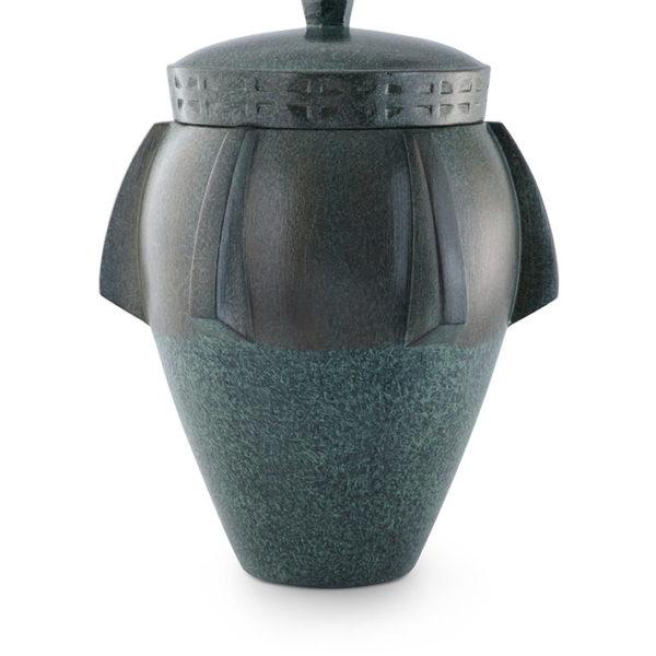 keramische urn groen gepatineerd (29)