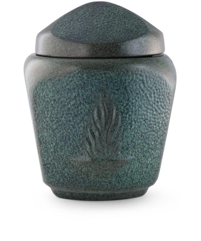keramische urn groen gepatineerd met vuurschaal afbeelding (30)