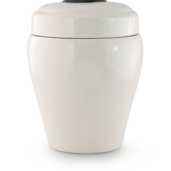keramische urn crème kleurig geglazuurd (34)