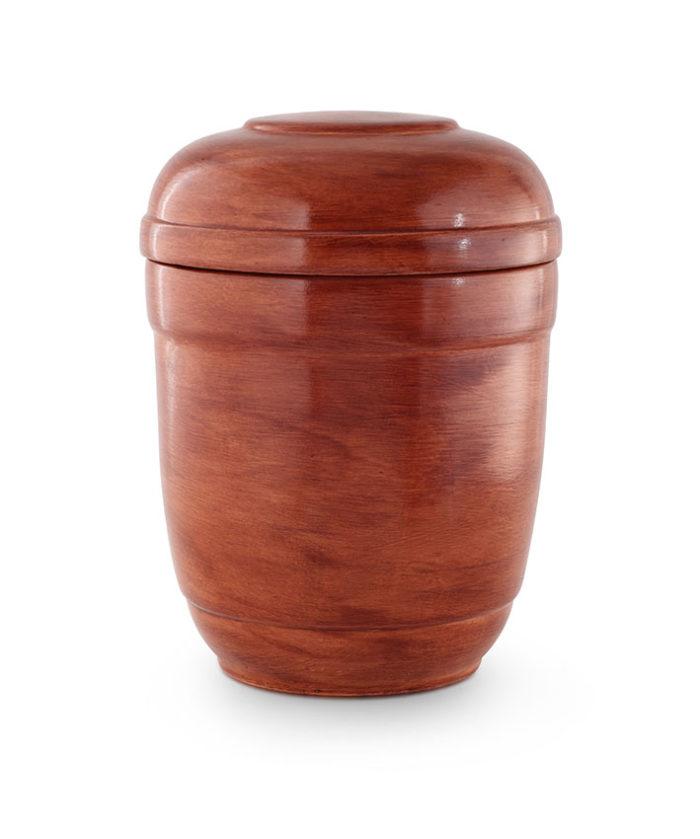 keramische urn aardebruin gepatineerd (37)