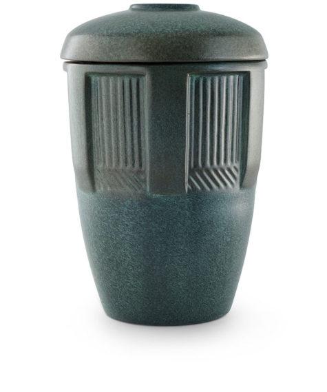 keramische urn groen gepatineerd (38)