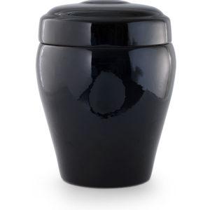 keramische urn zwart zijdeglans (4)