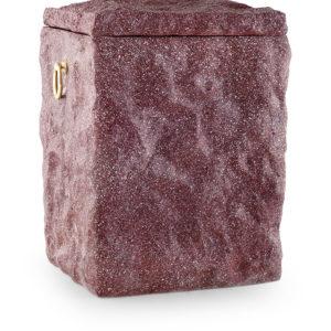 keramische urn rood natuursteen look (40)