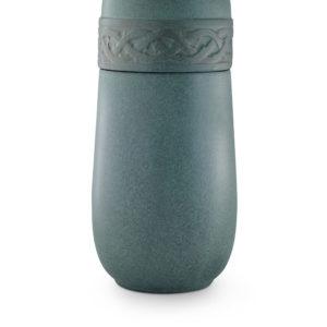 keramische duo urn groen gepatineerd (6dop)
